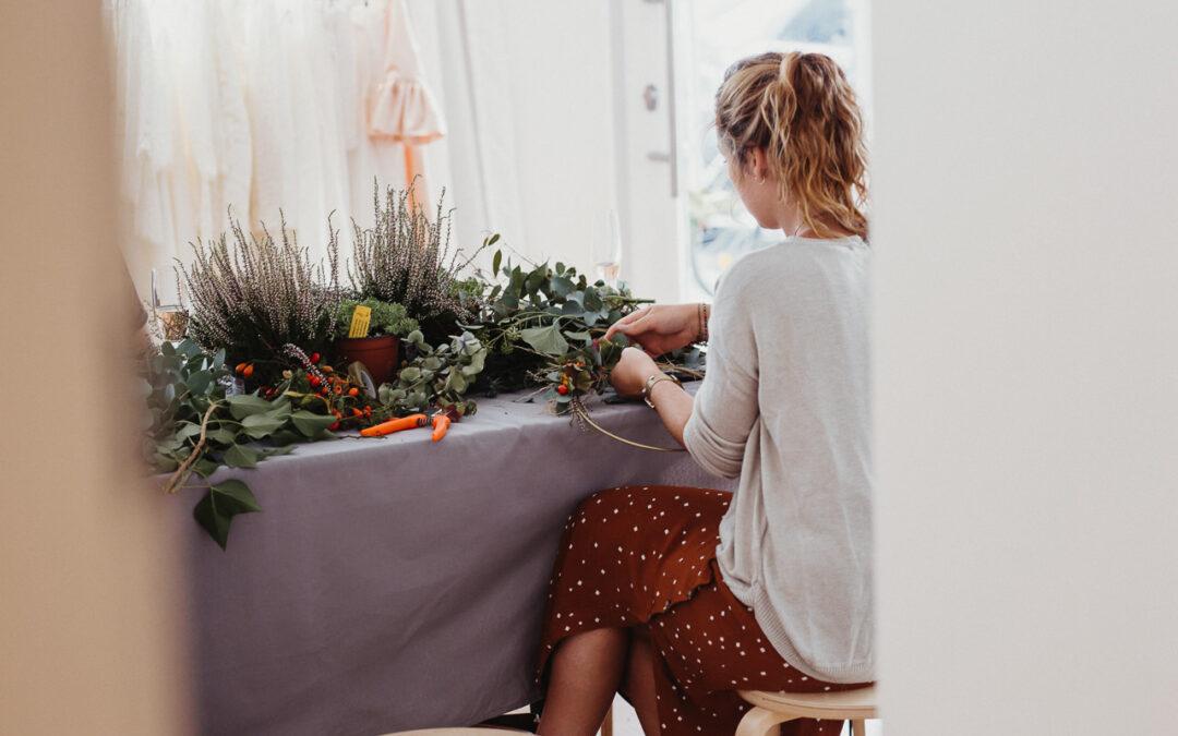 Wandkranz selber machen für Hochzeit